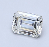 Diamond 1.01 CT Natural Loose Emerald Cut S to T Color VS2 Clarity GIA Certified