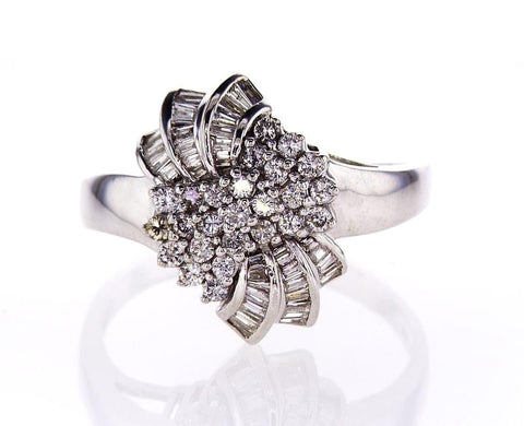 3.50CT Beautiful Estate Ring Certified 14k Gold Natural Round Brilliant Diamonds