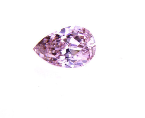GIA Argyle Certified Natural Pear Cut Fancy Purplish Pink Color Diamond 0.26 CT