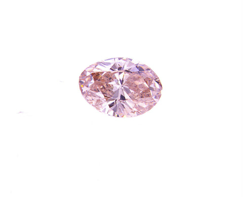 Rare Diamond Natural Loose Fancy PINK Color Oval Cut 0.18 CT SI2 GIA Certified