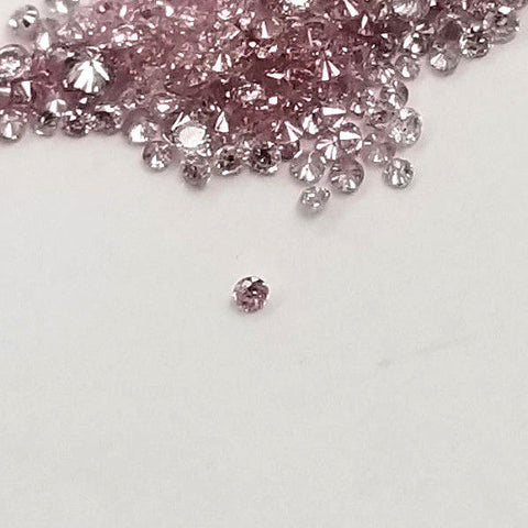 Small Pink Diamond 100% Natural Round Cut Rare Fancy Pink Color Loose Diamond
