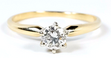 0.89 CT F I1 14k Gold Engagement Ring Diamond GIA Certified Natural Round Cut