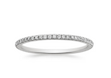 Diamond Eternity Band 1.00 CTW F-G Certified 18k White Gold Natural Round Cut