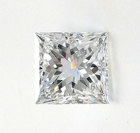 1 CT E /VS2 Natural Loose Diamond GIA Certified Princess Cut For A Ring