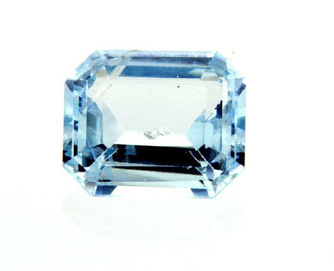 3 CT Natural Loose Aquamarine Beryl Pale Sky Blue Color Certified Radiant Cut