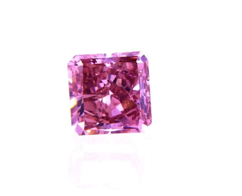 Fancy Intense Purplish Pink Loose Diamond 0.30 CT SI1 GIA Certified Radiant Cut