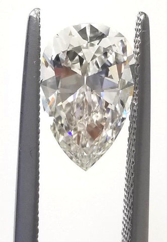 2 CT H Color VS1 Clarity GIA Certified Natural Loose Diamond Pear Shape Cut