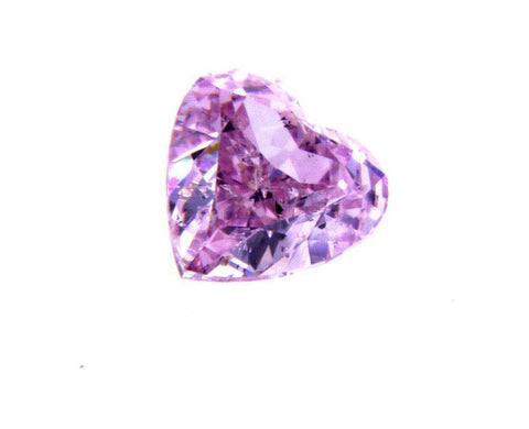 GIA Natural Heart Cut Fancy Intense Purple Pink Color Loose Diamond 0.29CT