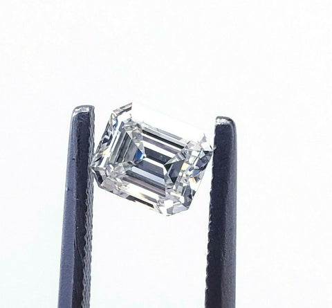 0.62 CT Natural Loose Diamond Emerald Cut J Color SI1 Clarity GIA Certified