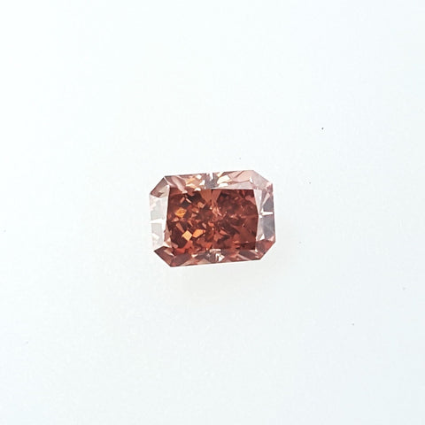 GIA Certified Natural Radiant Cut Rare Fancy Deep Orangy Pink Diamond 0.57 Ct