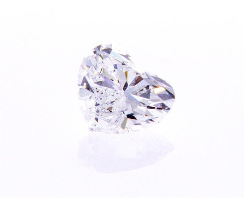 1/2 CT D/SI2 Heart Shape Cut Brilliant Natural Loose Diamond GIA Certified