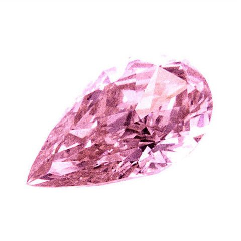 Fancy Intense Pink Color 0.23CT GIA Certified Natural Loose Diamond Pear Cut SI1