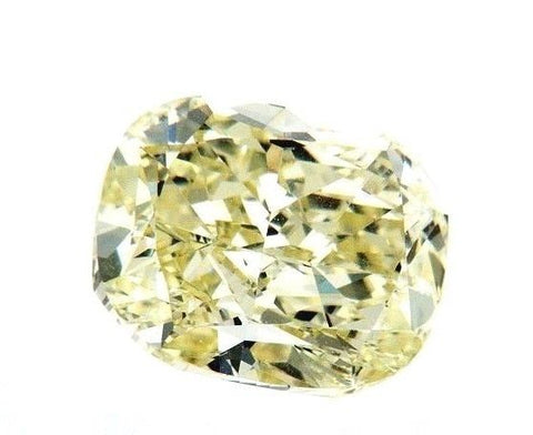 Natural Cushion Cut Loose Diamond 2.13 CT VVS1 Fancy Yellow Color GIA Certified