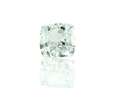 0.72CT GIA Certified Natural Cushion Cut Fancy Faint Blue Green Loose Diamond