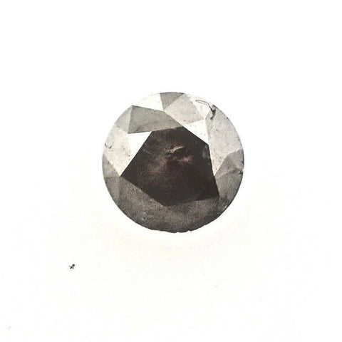 Fancy Gray Color 0.83 CT I3 Clarity Natural Round Cut Brilliant Loose Diamond