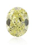 GIA Certified Natural Oval Cut Loose Diamond 2 CT Fancy Light Yellow VS2 Clarity