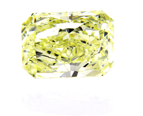 3 CT SI1 GIA Certified Natural Loose Diamond Fancy Yellow Color Radiant Cut