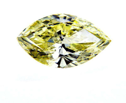 1.50CT Fancy Yellow Natural Loose Diamond Rare Color SI2 Clarity Marquise Cut