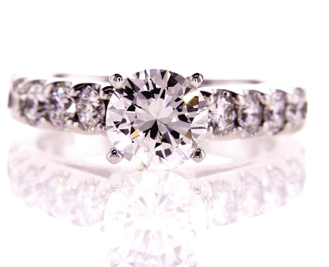 Diamond Engagement Ring 2.01 CT I SI2 Clarity Natural Round Cut GIA Certified