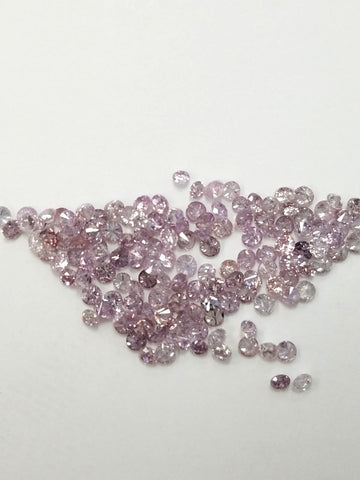 Natural Original Round Cut Rare Fancy Color Pink Loose Diamond 0.01ct 1.4mm