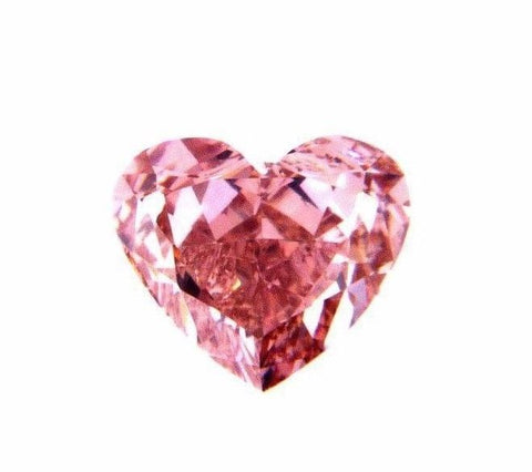 FANCY INTENSE PINK COLOR NATURAL LOOSE DIAMOND GIA CERTIFIED HEART CUT 0.81 CT