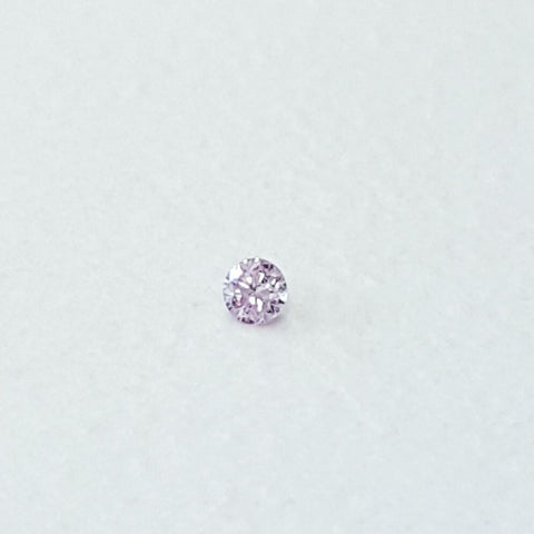 Natural Original Round Cut Rare Fancy Color Light Pink Loose Diamond 0.01ct