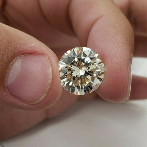 Huge 10 CT M Color SI1 Natural Loose Diamond Round Cut Brilliant