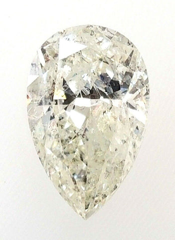 Real 1.71CT Loose Diamond K Color I1 Clarity Natural Pear Shape Cut Brilliant