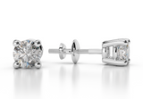 1/2CT H/ I1 NATURAL DIAMONDS STUD EARRINGS14K GOLD  ROUND CUT 4.00MM