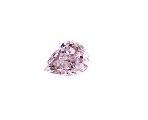 Fancy Pink Color 0.33 CT GIA Certified Natural Loose Diamond Pear Cut SI2