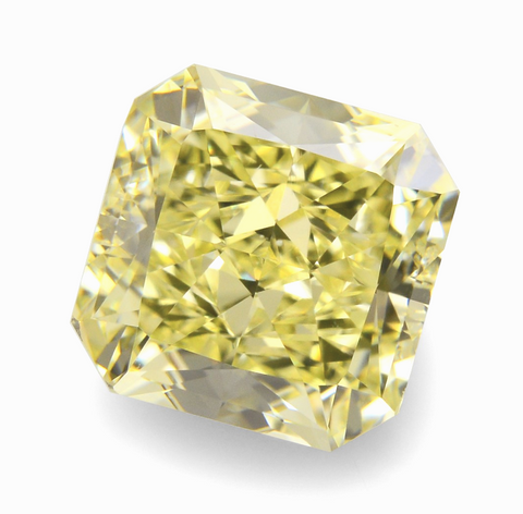 4 CT VS1 Clarity Natural Yellow Color Loose Diamond Radiant Cut GIA Certified