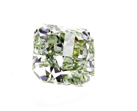 2CT Fancy Green Color VS2 Loose Diamond Natural Radiant Cut GIA Certified