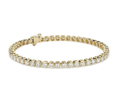Diamond Tennis Bracelet in 18k Yellow Gold (5 ct. tw.