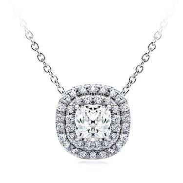 Cushion Double Halo Diamond Pendant Setting