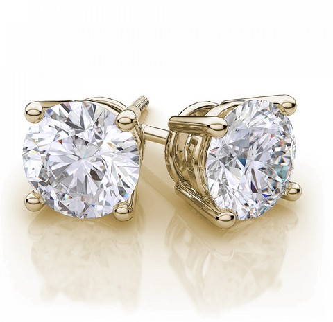 Diamond Stud Earrings in 14k Yellow Gold (1/2 ct. tw.)