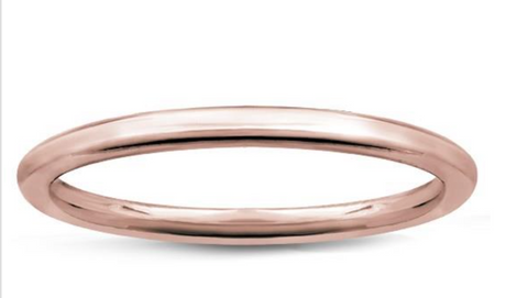 Solid Metal Wedding Band 1.5mm Rose Gold