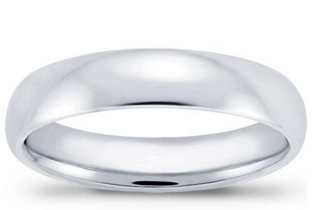 6mm Comfort-Fit Wedding Band 14K White Gold