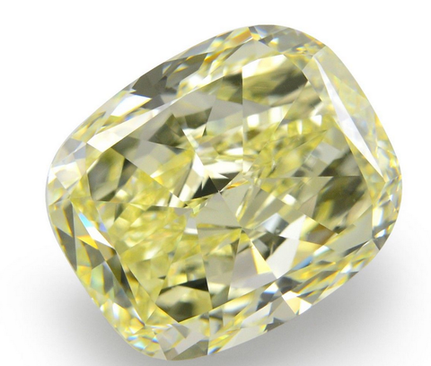 GIA Certified Natural Cushion Cut Loose Diamond 2.13 CT VVS1 Yellow Color