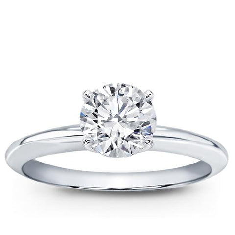Classic Solitaire Setting (2mm) 14K White Gold