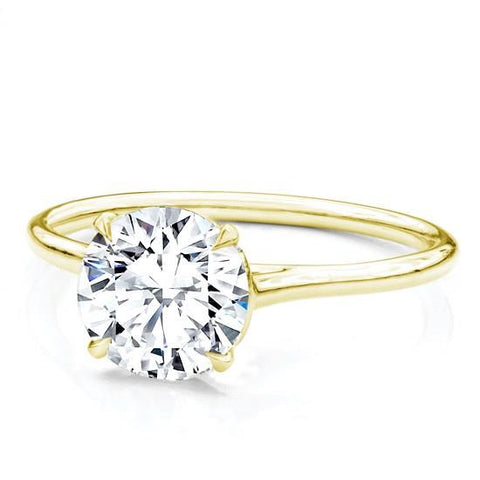Custom Fit Basket Solitaire Setting 1.5mm 14K Yellow Gold