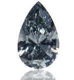 GIA Certified Natural Loose Diamond Pear Cut Fancy Gray BLUE Color 0.43 CT VS2