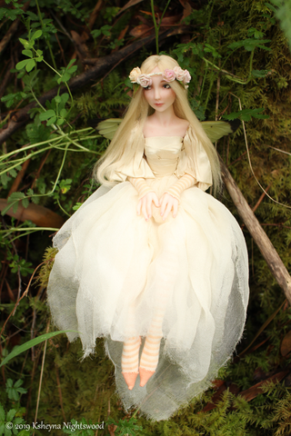 Sweet little faerie art doll