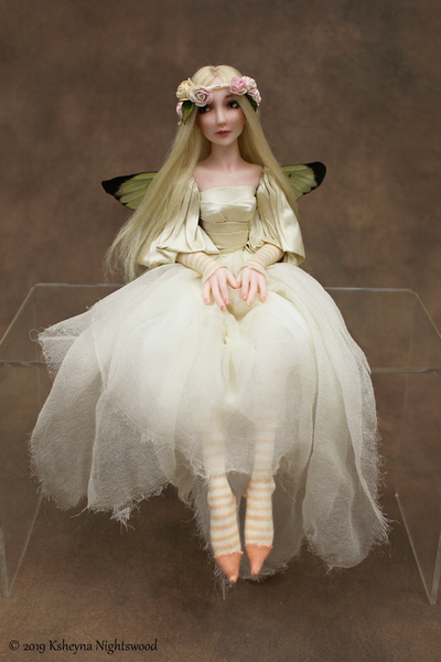 OOAK sculpted faerie art doll