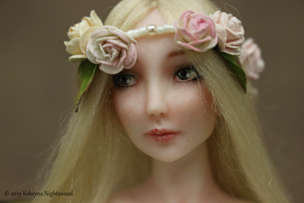 Faerie face ooak polymer art doll