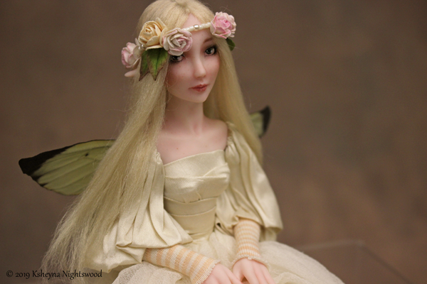 One of a kind hand sculpted polymer clay faerie art doll
