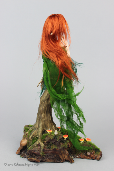 Sythara - OOAK Dryad Art Doll Sculpture
