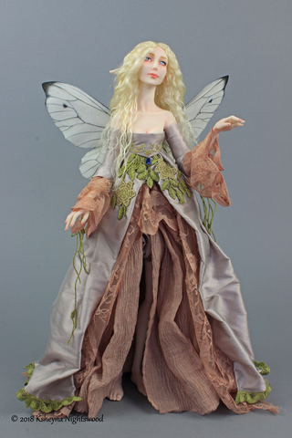 Queen Titania.  OOAK Fairy art doll by Nightswood