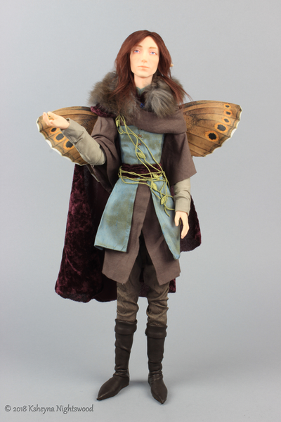 King Oberon.  OOAK Fairy art doll by Nightswood
