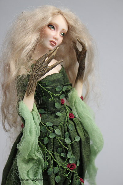 Illia - OOAK Dryad Art Doll Sculpture
