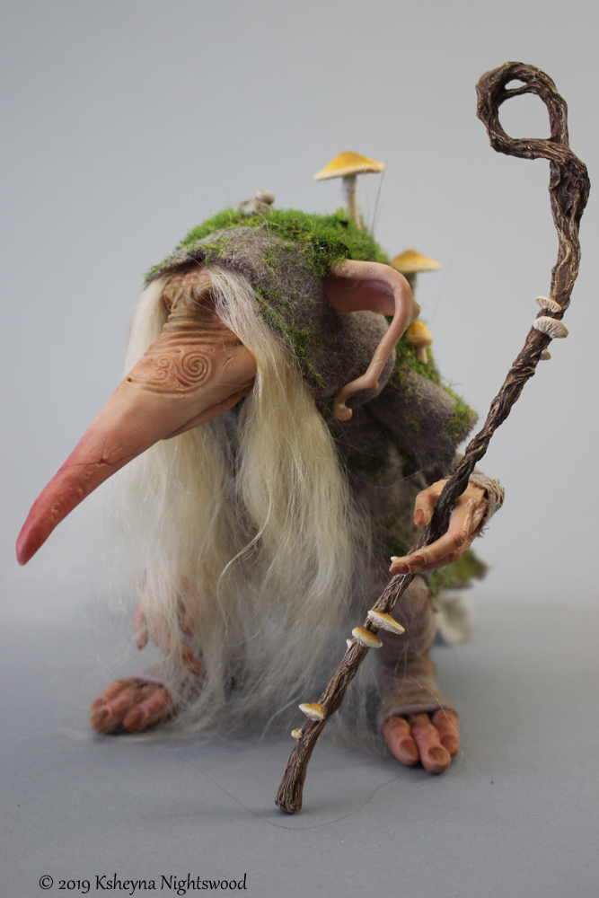 Vodden - OOAK Troll Art Doll Sculpture